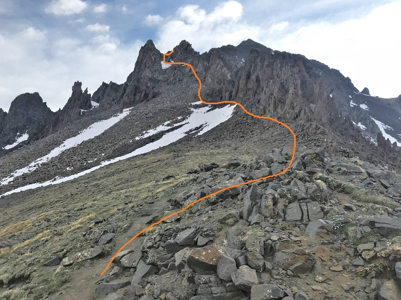 13 Ridge route from saddle