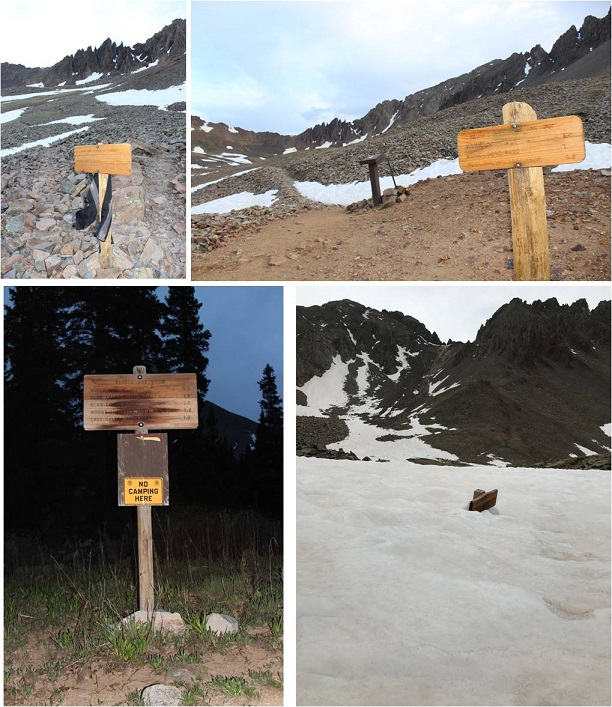 7 Trail signs